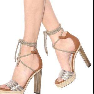 Jimmy Choo Brown Leather Platform Sandals